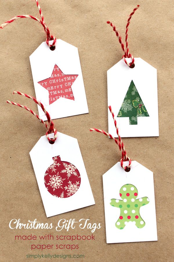 Christmas Gift Tags with Scrapbook paper scraps | Silhouette Project ...