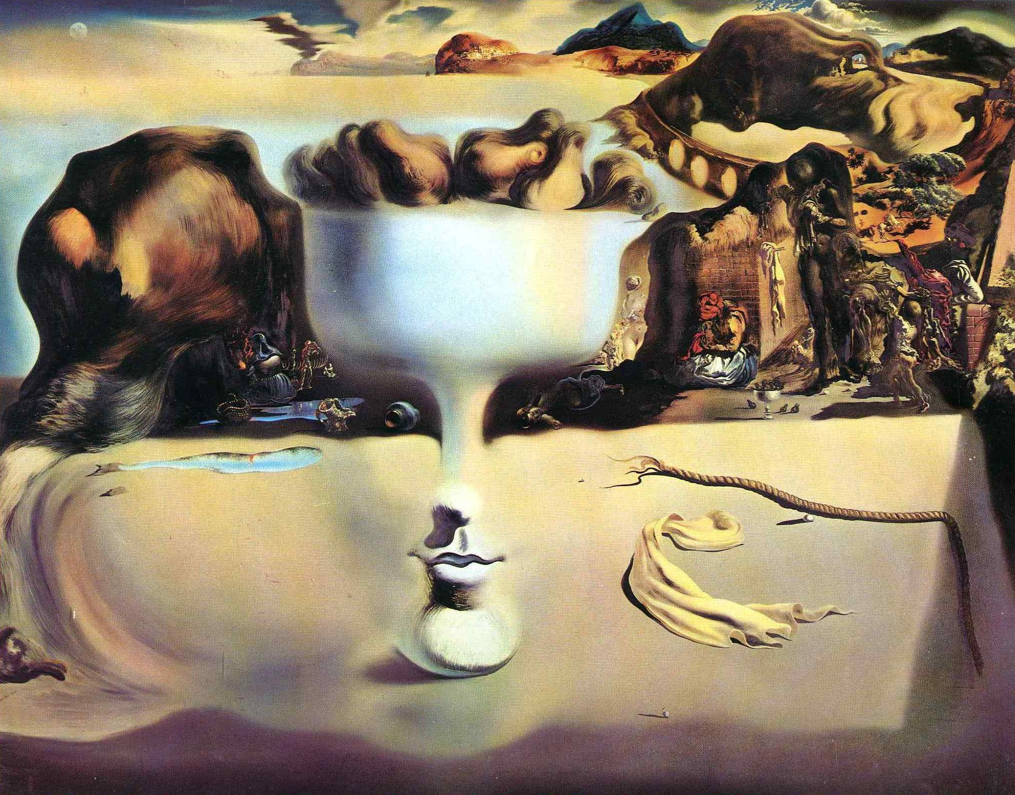 Salvador dali most famous paintings salvador dali painter surrealism picture phenomenon of the face and
