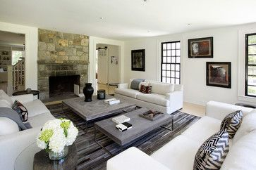Stanwich Road Residence Perfect Living Room Farm House Living Room Sofa Layout