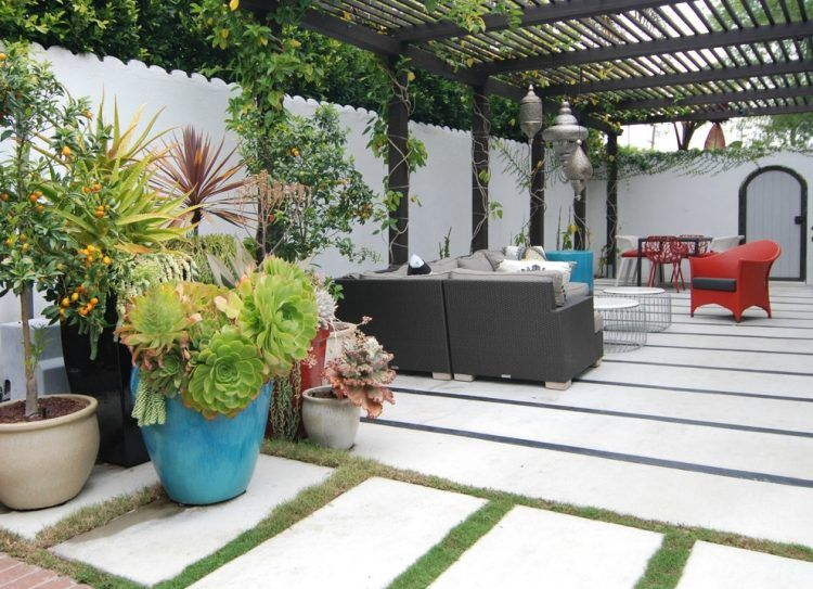 Terrasse Et Jardin: 24 Idées De Revêtement De Sol Extérieur | Dalle
