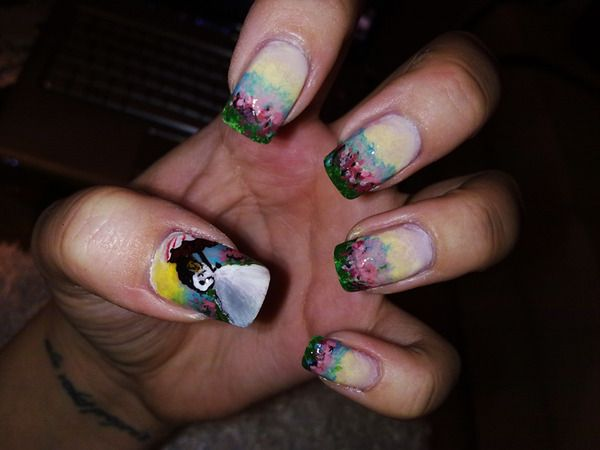 Jane Eyre-inspired nails?! LOVE. That's one of my favorite books!