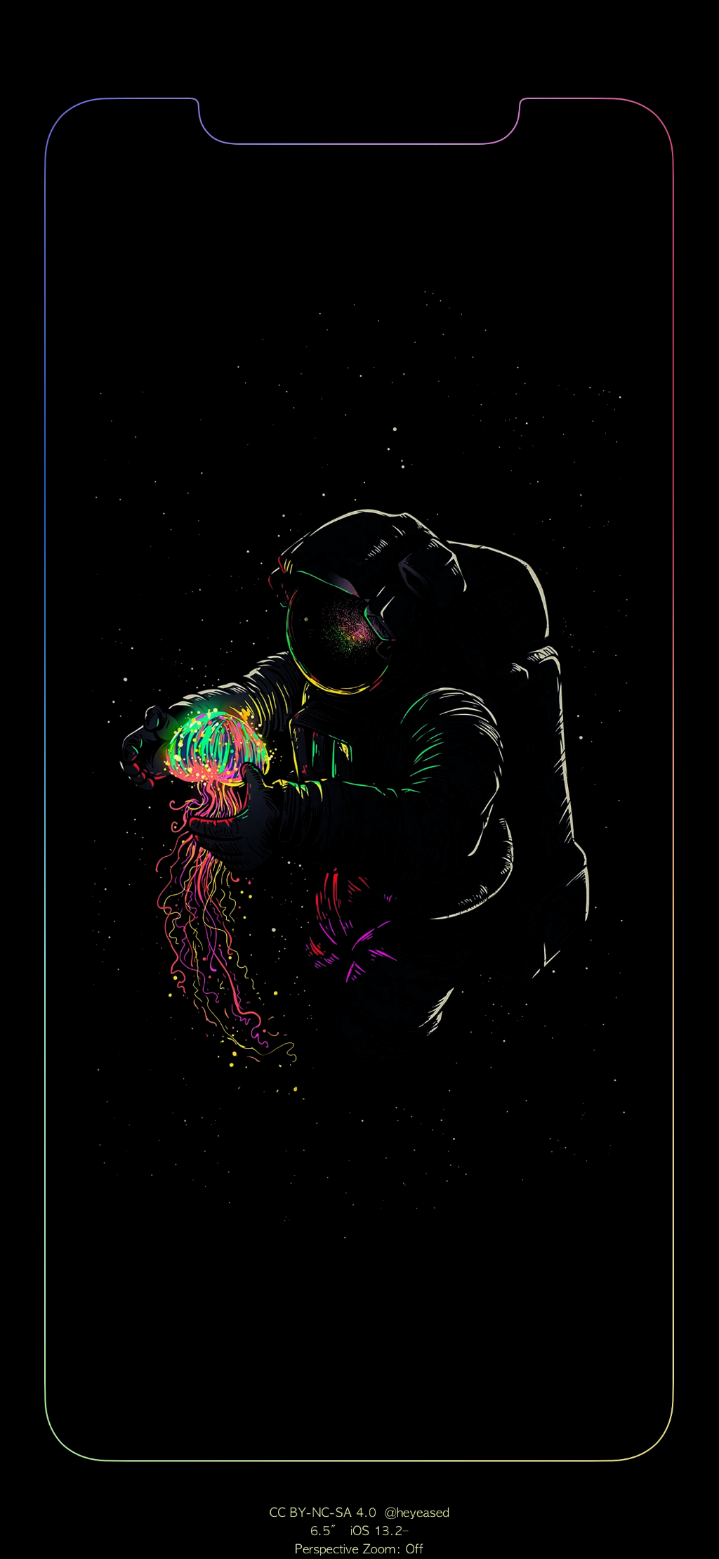 made an edge illuminating wallpaper (only fits iphone 11