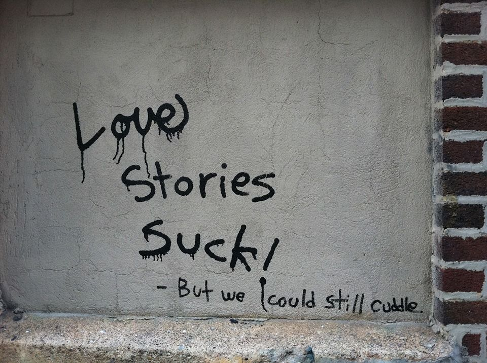 Photo of 6. …because of this memorable graffiti conversation I saw …