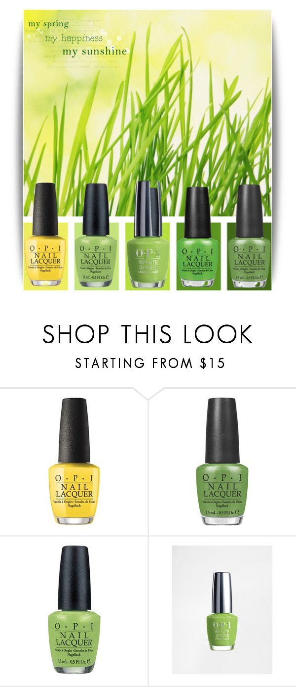 """OPI spring"" by leanne-mcclean ❤ liked on Polyvore featuring beauty and OPI"