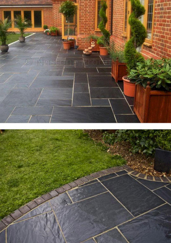 Black Slate Tile Outdoor Patio