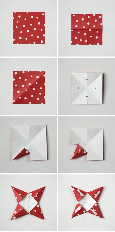 1001 ideas de estrellas de navidad hechas a mano for Adornos navidenos origami paso a paso