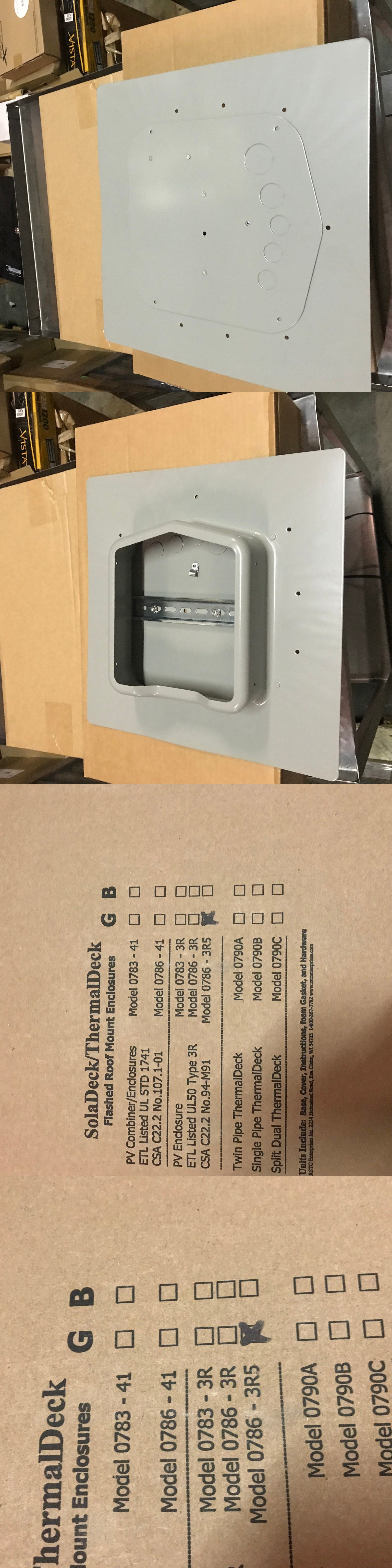 Soladeck 0786 3r5 Flashed Roof Mount Enclosure New In Box Circuit Ul Fuse Breakers And Boxes 20596