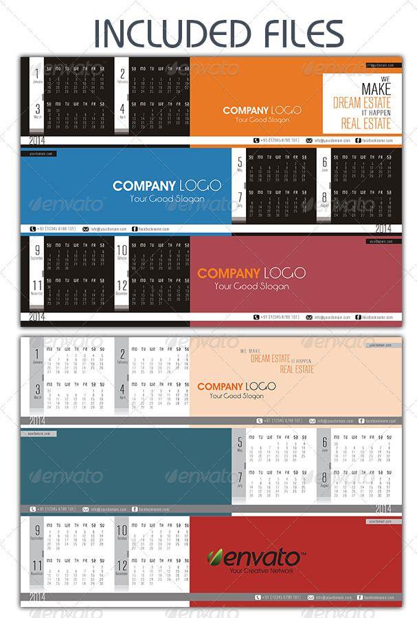 The Company Table Calendars Table Calendar Infographic Design Layout Calendar