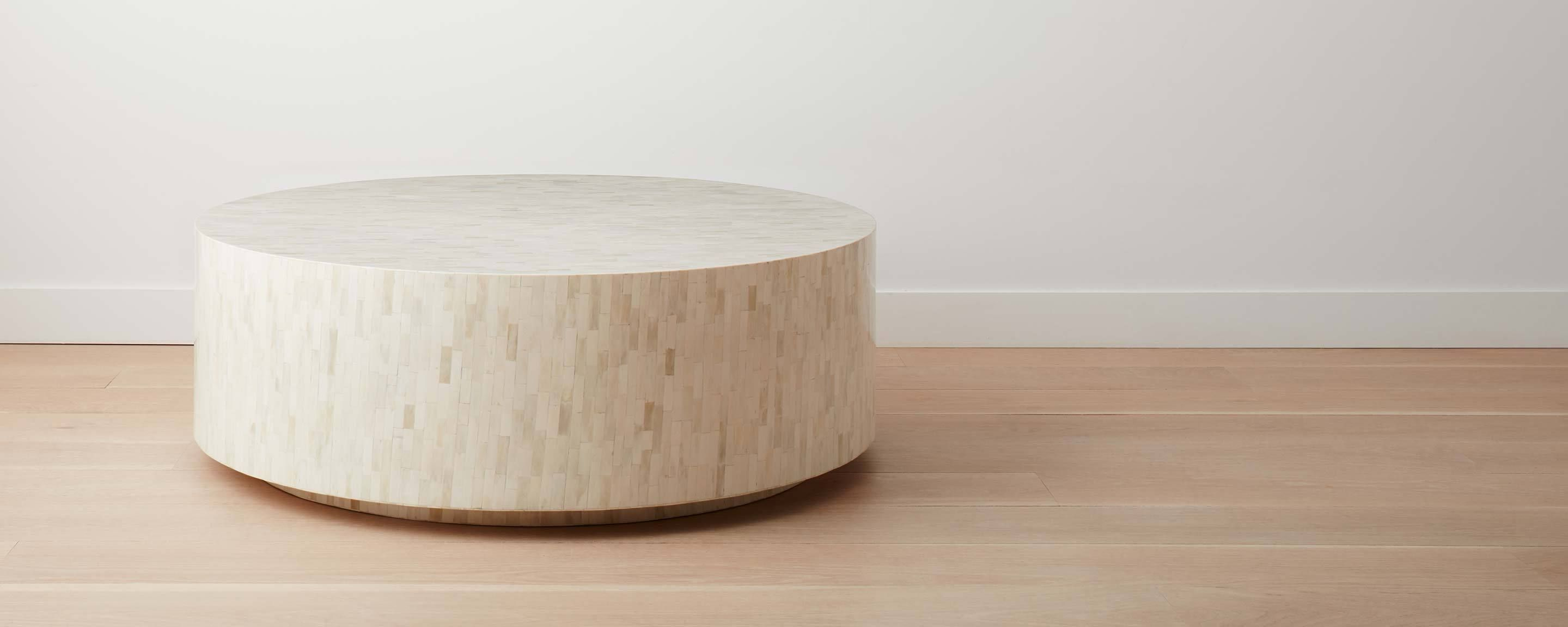 Bone Coffee Table Round Coffee Table