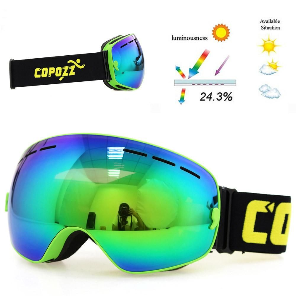 01cc3744da43 ski goggles double layers lens anti-fog UV400 snowboard unisex snow goggles