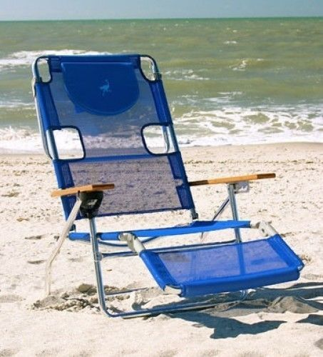 3in1 Beach Chair Recliner Portable Folding Wooden Tanning Pool Lounger  Swimming