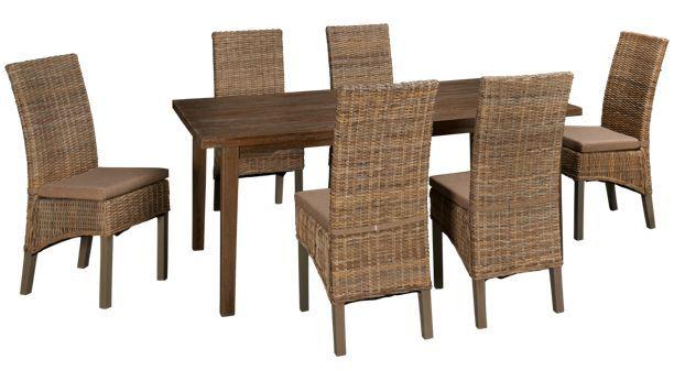 Jofran Grey Oak Grey Oak 7 Piece Dining Set   Jordanu0027s Furniture