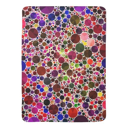 Colorful Polkadot Bling Stroller Blanket #BABYSHOWER #BABYBLANKET #Bling #babygirls