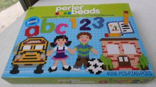 Perler Beads School Fuse Bead Set Kids Craft EK SUCCESS