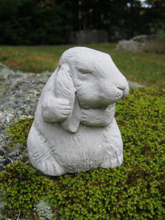 Rabbit Statue, Bunny Rabbit Figurine, Concrete Rabbit Garden Statue, Garden  Rabbit Cast In Cement, Bunny Rabbit Statues, Concrete Statues