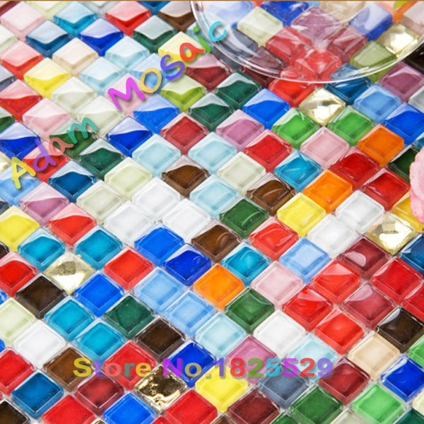 iridescent glass tile mirror multi colored shower wall tile colors
