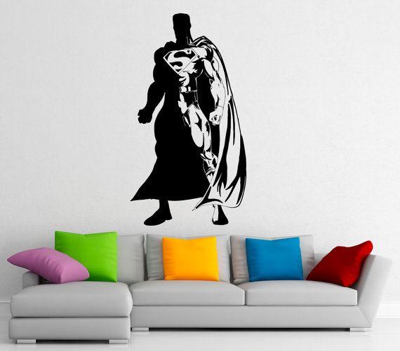 Etonnant Superman Wall Decal Vinyl Stickers Comics Superhero Interior Home Design  Wall Art Murals Bedroom Decor (