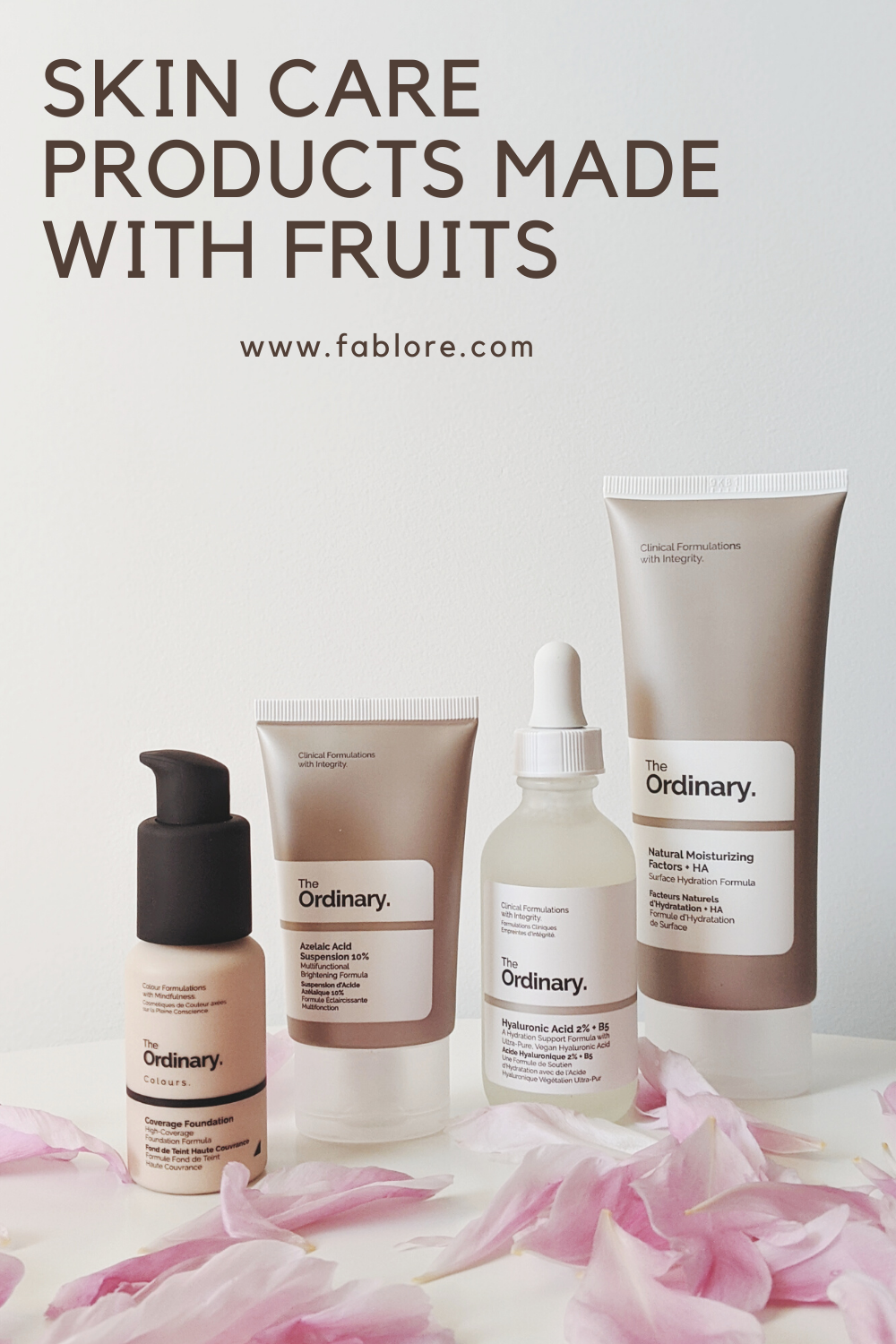 Skin Care Products made with Fruits facial beauty