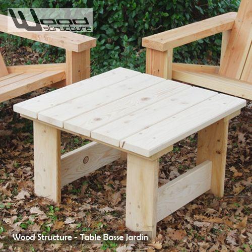 Table basse - Salon de Jardin en sapin du nord - Design Wood ...