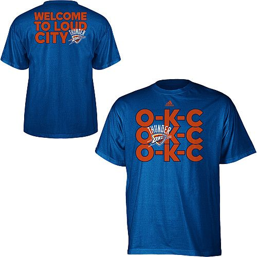 brand new f5587 54ed2 adidas Oklahoma City Thunder OKC Chant T-Shirt - ESPN Shop ...