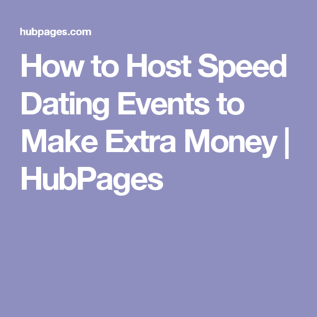 How to make money hosting speed dating events