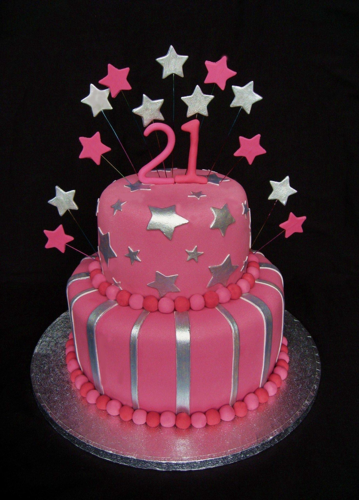 Miraculous 30 Elegant Picture Of 21St Birthday Cakes For Her With Images Funny Birthday Cards Online Overcheapnameinfo