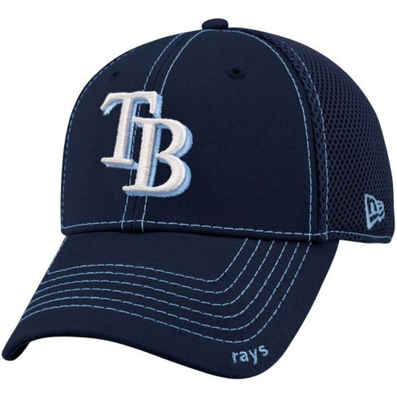 fa0095e068d New Era Tampa Bay Rays Navy Blue Neo 39THIRTY Stretch Fit Hat ...