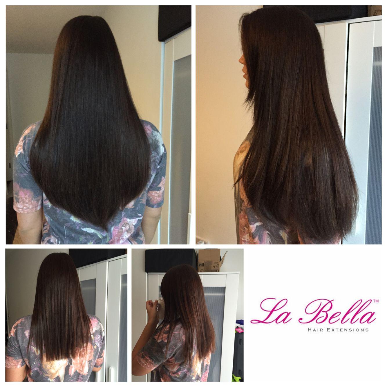 Full Head 18 Virgin European Hand Made La Bella Nano Tip Hair