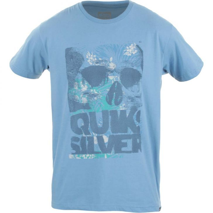 4b0a9db651b23 Camiseta Quiksilver Happy Holiday - Azul