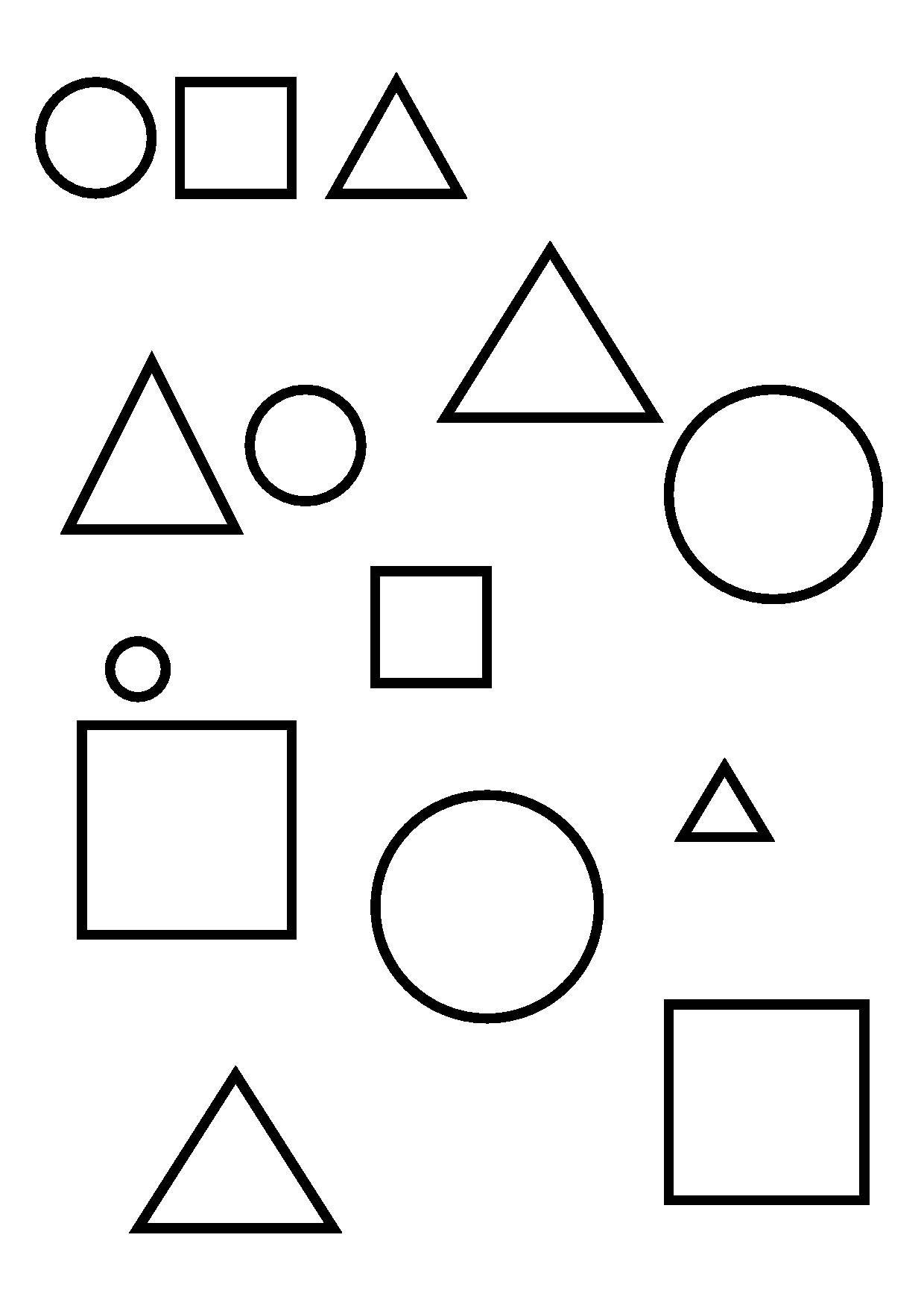 3 souris en papier ps la maternelle de camille les - Coloriage des formes ...