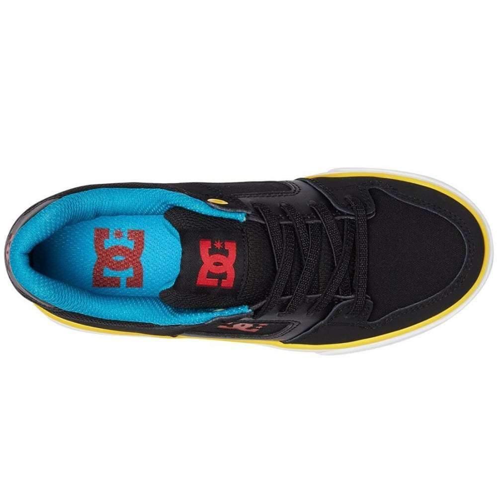 Dc Boys Pure Elastic Shoes In Black Multi Boy Shoes Boys Skate