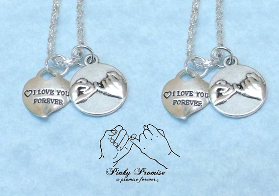 1 Mother 2 Daughters Pinky Promise Necklaces Mother 2 Daughters Jewelry Mother 2 Daughters Necklaces Mom 2 Daughters Necklaces