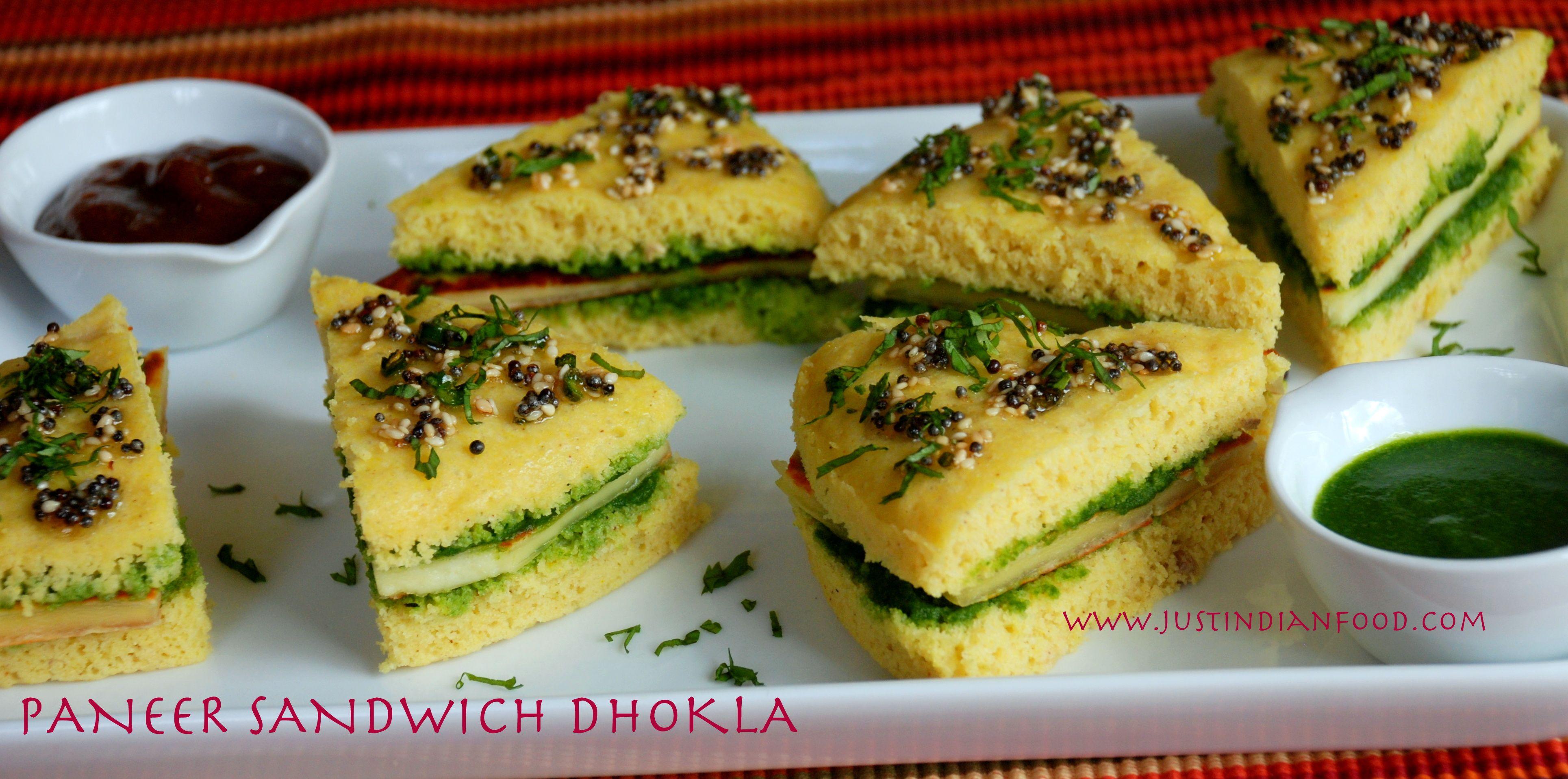 Paneer-Sandwich-Dhokla | Indian Recipes | Paneer sandwich ...