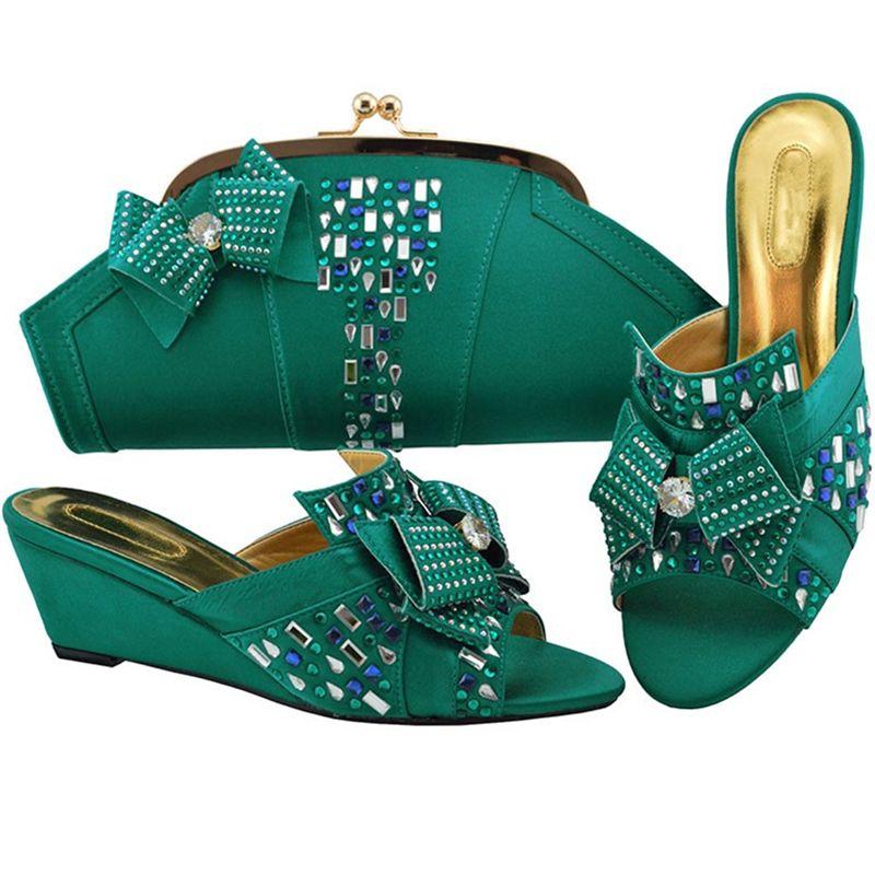 Ladies Italian Leather Shoes and Bag Set Purple Italian