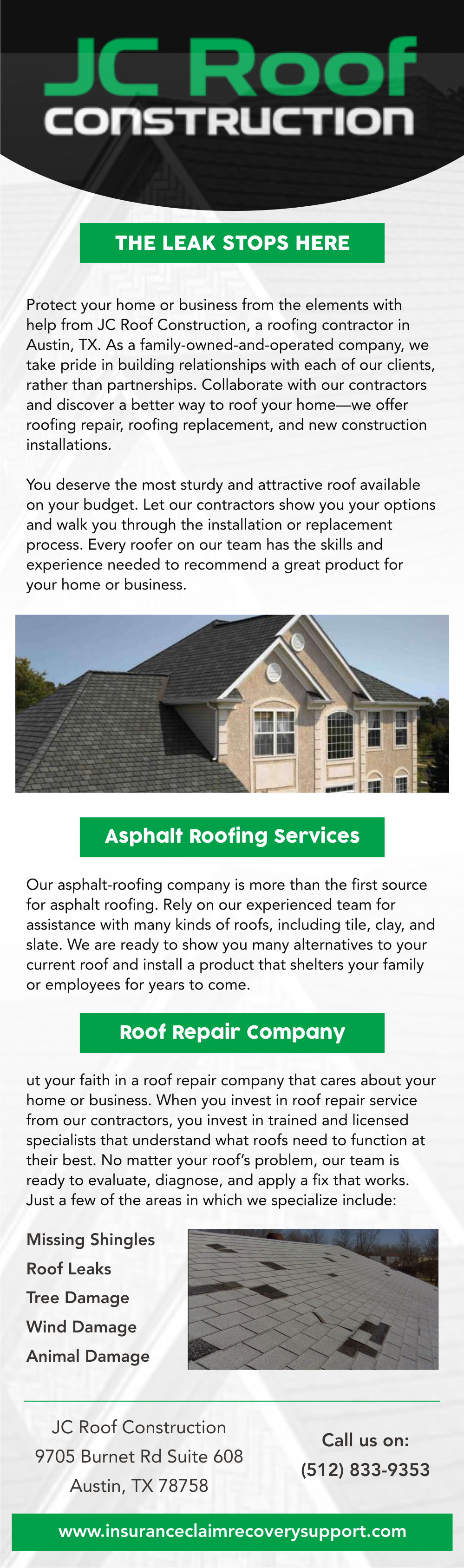 JC Roof Construction LLC (http://jcroofconstruction.com) Are Leading Austin  Roofing Contractors. The Company Offers A Variety Of Roof Installation  Options ...