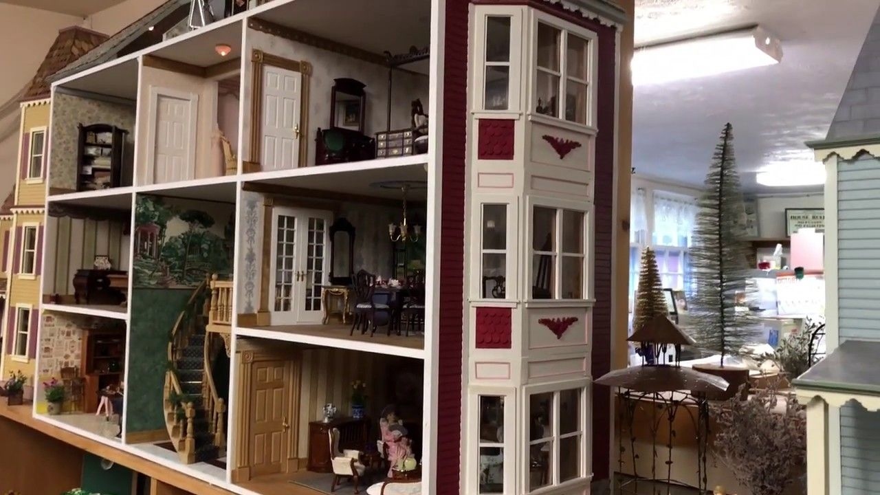OOAK Fitzwilliam Victorian Dollhouse Tour #victoriandollhouse