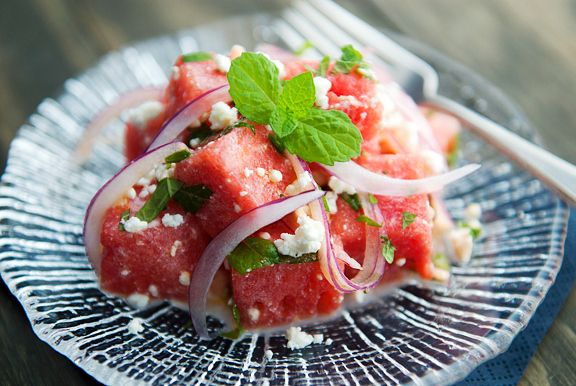Watermelon Feta Salad | 32 Delicious Things To Eat On Memorial Day