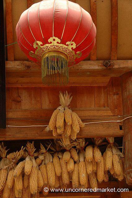 Red Lantern and Corn - China