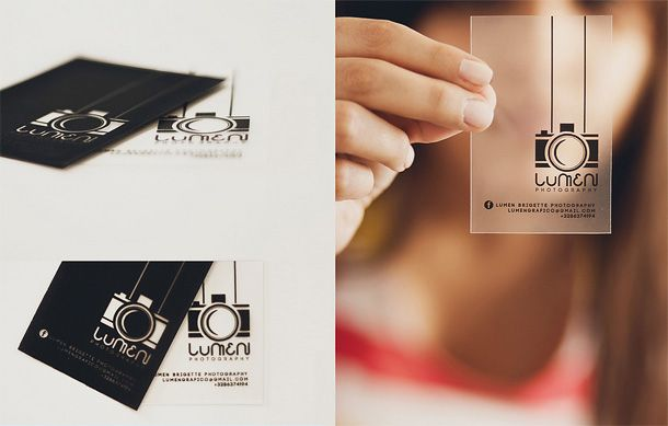 How To Make A Clear Business Card Photography Business Cards Transparent Business Cards Business Card Design Photography