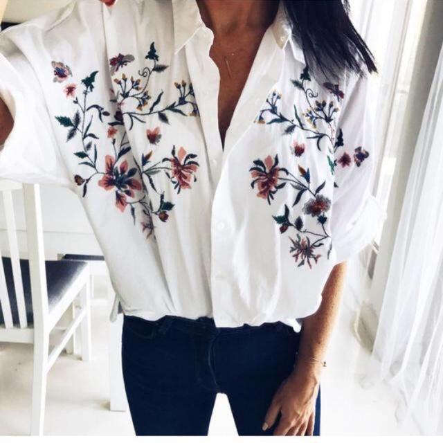 camisa oversize flores