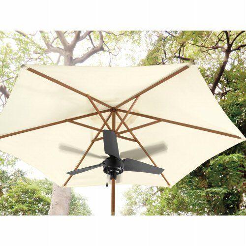 Incroyable Patio Outdoor Umbrella Fan   Black, Brown By Outdoor Oasis