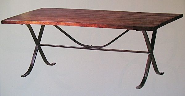 Mission Iron And Wood Dining Table 6 Bungalow Design Pinterest