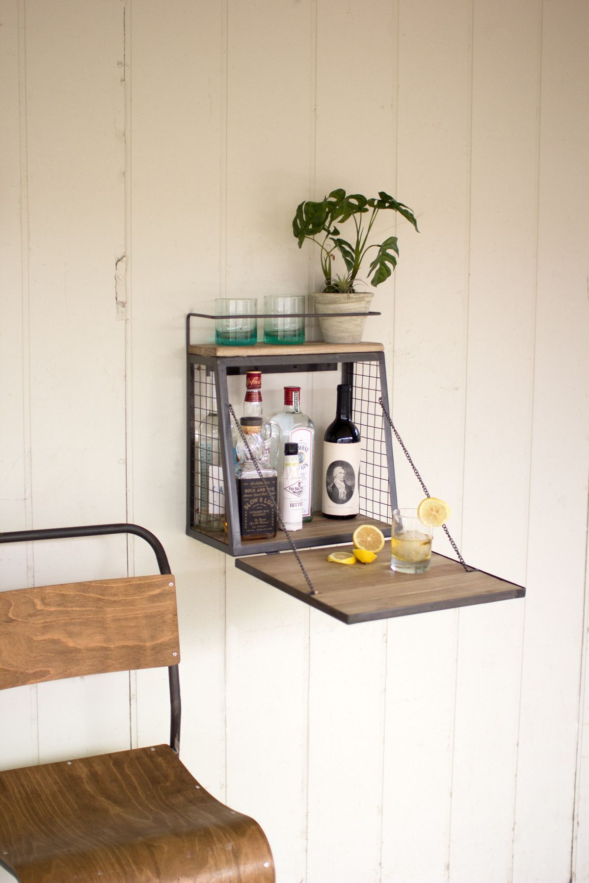 WALL FOLD DOWN SHELF | DIY bar | Pinterest | Balkon und Knoten