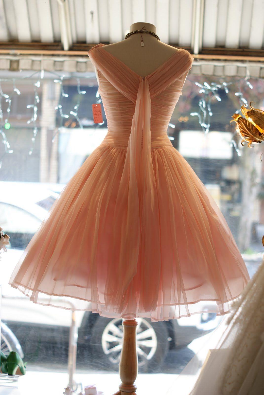 1950\'s cotton candy chiffon prom dress, size 4-6. 248. 1950\'s Emma ...