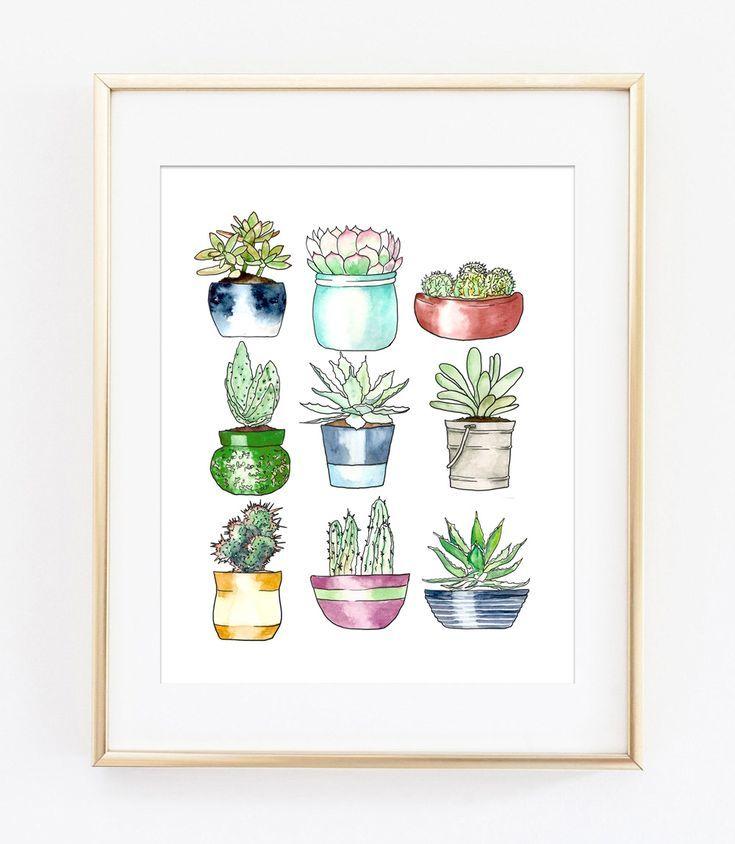 Succulents Free Printable Art | DIY Crafts | Home decor wall art