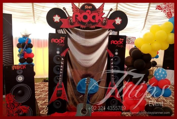 Rock Star Themed Birthday Party Planner in Lahore Pakistan Party