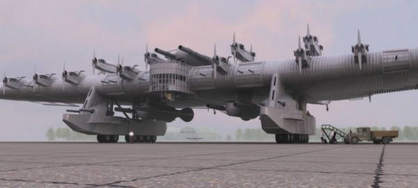 1930's Russian K7 flying battleship