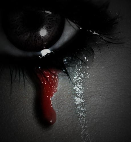 Black Rose With Blood Tears Eyes Crying Blood Crying Blood By