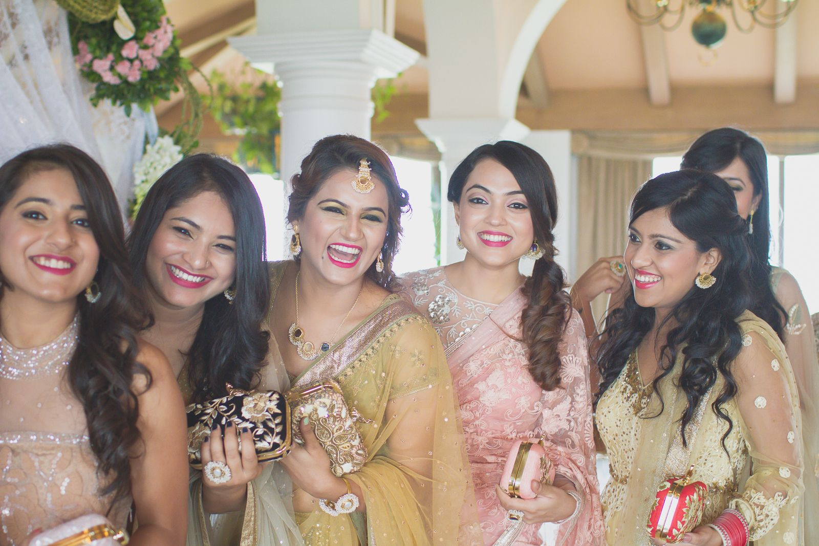 Devinamalhotra the bride to be srikes a happy pose with her