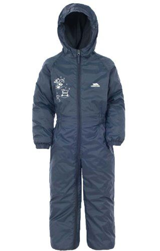 Trespass Dripdrop Babies Waterproof All In One Rainsuit with Hood Boys Girls